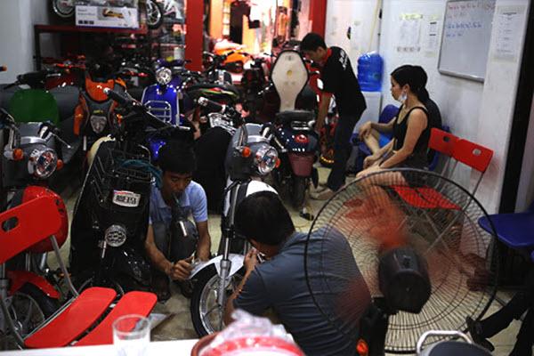 Mở cửa hàng sửa xe máy xe đạp ở nông thôn
