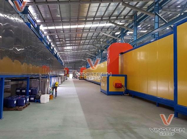 Năng lực sản xuất kệ siêu thị của Vinatech Group