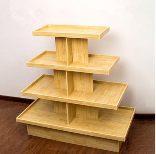 Kệ gỗ thiết kế theo tầng hộp