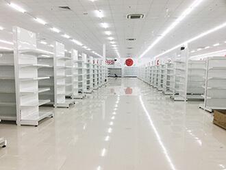 Kệ siêu thị màu trắng